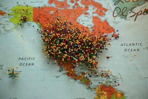 America Pin Map